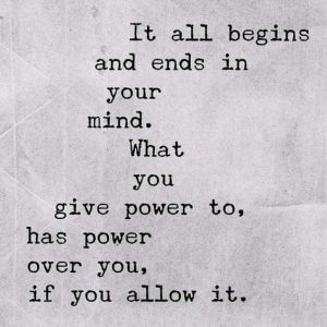 it all starts in your mind