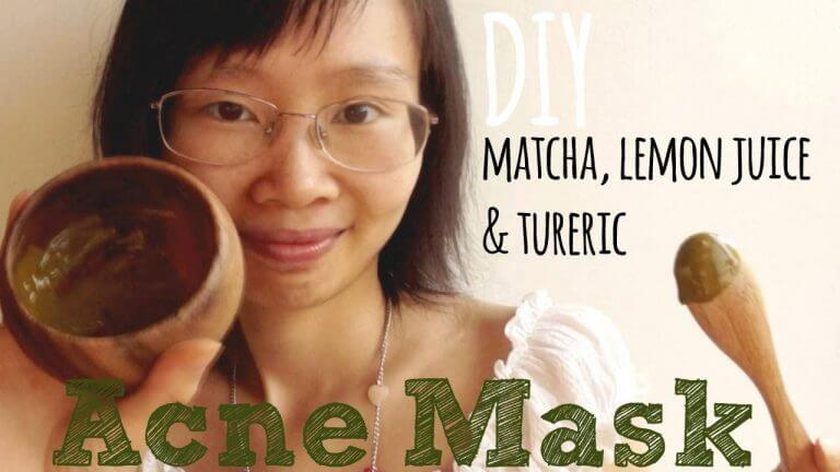 Video Tutorial: DIY Green Tea Matcha Lemon Juice & Turmeric Acne Mask