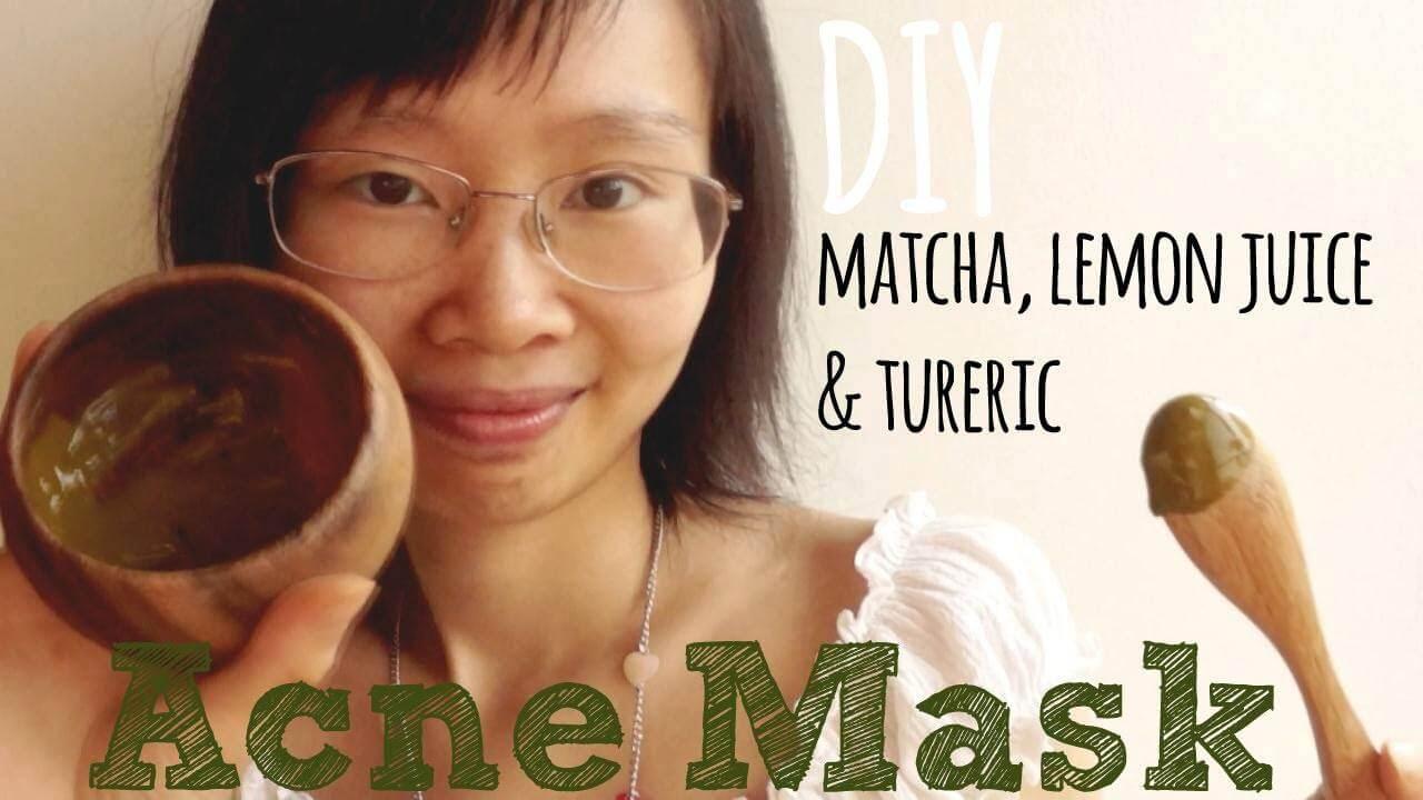 - Video Tutorial: DIY Green Tea Matcha Lemon Juice & Turmeric Acne Mask