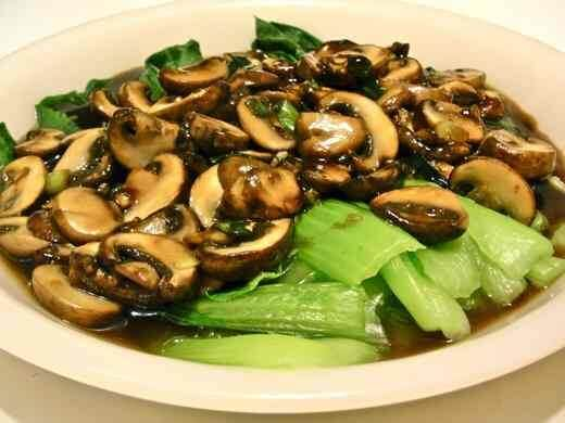 Bok Choy with Shiitake Mushrooms