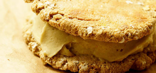 Blogilate's Healthy Banana Oatmeal Ice Cream Cookie Sandwich