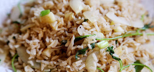 Onion Cilantro Brown Rice