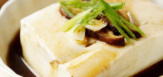 Steamed Silken Tofu with Shiitake Mushrooms