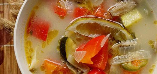 Thai Vegetable Curry Soup with Lemongrass & Coconut Milk