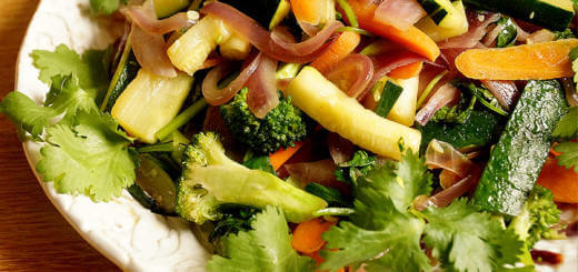 Vegetable Stir Fry with Cilantro