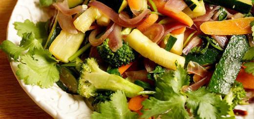 Vegetable Stir Fry with Cilantro